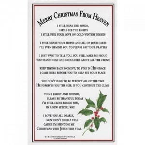 merrychrsitmasfromehaven - Merry Christmas From Heaven Ornament