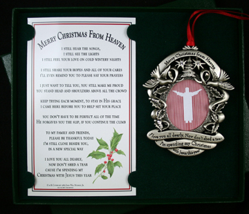 Our Pewter Finish Remembrance Ornament and Bookmark Gift Boxed