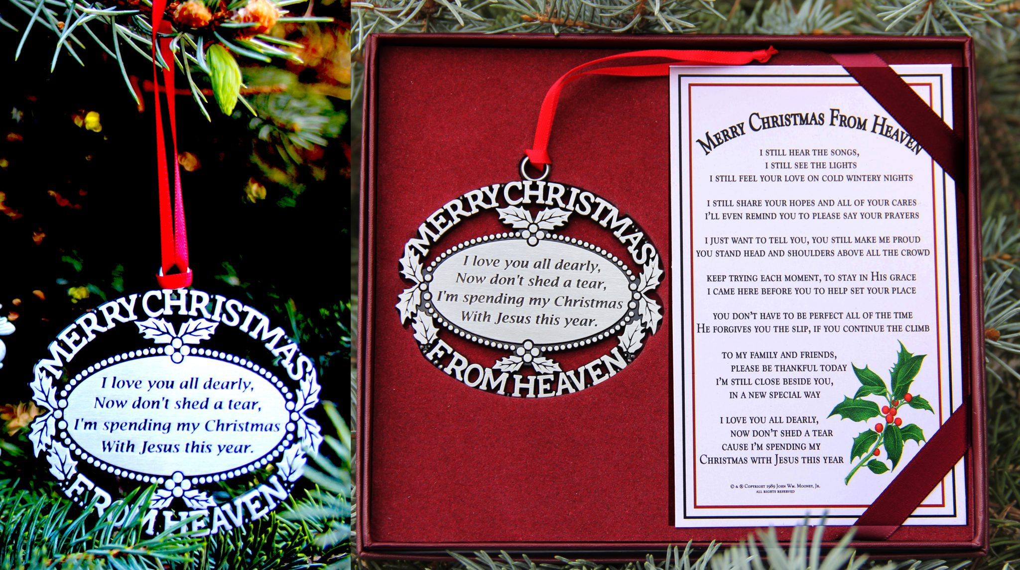 our pewter finish ornament and bookmark click here for more detail
